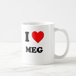 I corazón megohmio taza de café