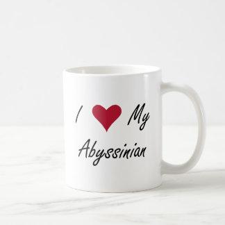 I corazón mi abisinio taza de café