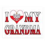 I corazón mi abuela postal