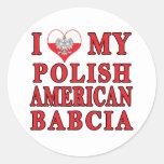 I corazón mi americano polaco Babcia Etiquetas