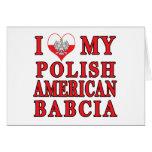 I corazón mi americano polaco Babcia Felicitacion