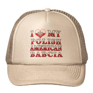 I corazón mi americano polaco Babcia Gorro De Camionero