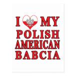 I corazón mi americano polaco Babcia Postal