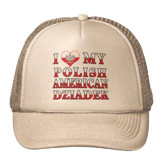 I corazón mi americano polaco Dziadek Gorros