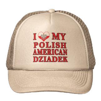 I corazón mi americano polaco Dziadek Gorro De Camionero