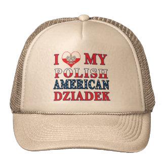 I corazón mi americano polaco Dziadek Gorras