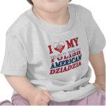 I corazón mi americano polaco Dziadzia Camiseta