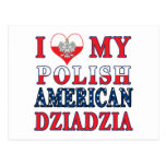I corazón mi americano polaco Dziadzia Postal