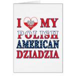 I corazón mi americano polaco Dziadzia Felicitación