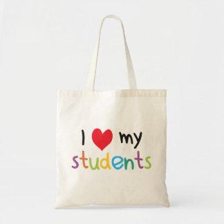 I corazón mi amor del profesor de estudiantes bolsa tela barata