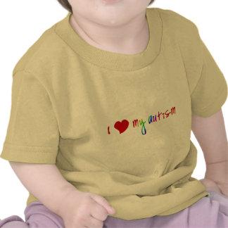 I corazón mi autismo camiseta