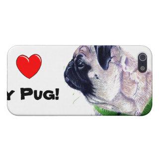 ¡I corazón mi barro amasado! Perro iPhone 5 Funda