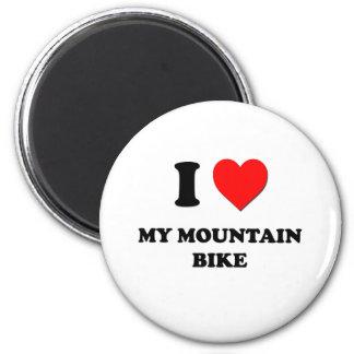 I corazón mi bici de montaña imanes