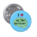 I [corazón] mi botón del superviviente de TBI Pins