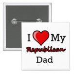 I corazón mi botón republicano del papá pins
