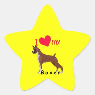 I corazón mi boxeador colcomanias forma de estrellas