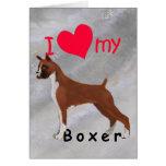 I corazón mi boxeador tarjeta de felicitación