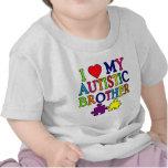 I corazón mi Brother autístico Camisetas