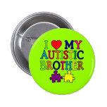 I corazón mi Brother autístico Pins