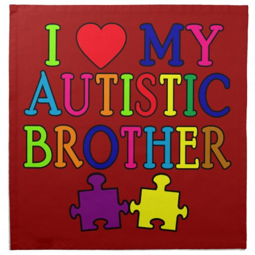 I corazón mi Brother autístico Servilleta De Papel