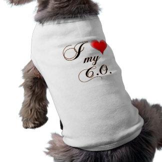 I corazón mi C O Dog Shirts Camisetas Mascota
