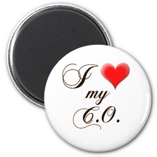 """I """"corazón"""" mi C.O. Magnet Imán Redondo 5 Cm"""