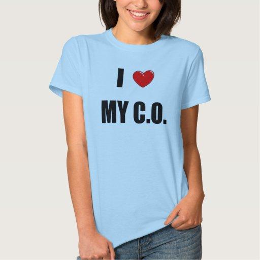 "I ""corazón"" mi C.O. Playeras"