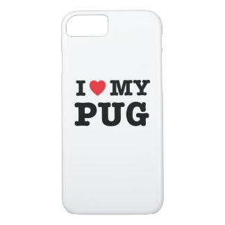 I corazón mi caja del teléfono del barro amasado funda iPhone 7