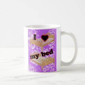 I corazón mi cama taza de café