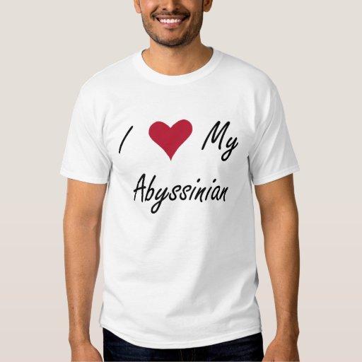 I corazón mi camisa abisinia