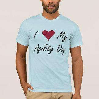 I corazón mi camisa del perro de la agilidad