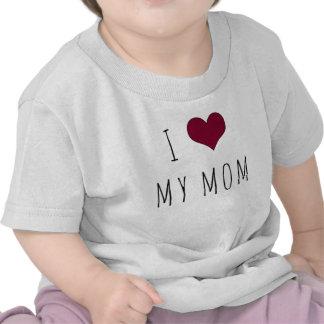I corazón mi camiseta del niño de la mamá