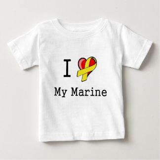 I corazón mi camiseta infantil marina playera