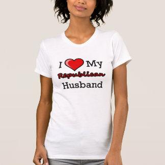 I corazón mi camiseta republicana del marido remeras