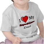 I corazón mi camiseta republicana del niño del pap