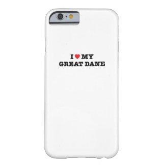 I corazón mi caso del iPhone 6 de great dane Funda Barely There iPhone 6