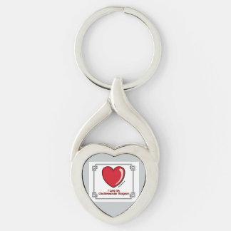 I corazón mi cirujano cardiovascular llavero plateado en forma de corazón