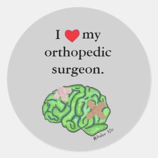 I corazón mi cirujano ortopédico pegatinas