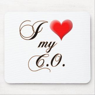 "I ""corazón"" mi cojín de ratón de C.O. Alfombrilla De Raton"