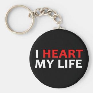 I corazón mi colección de la vida llavero