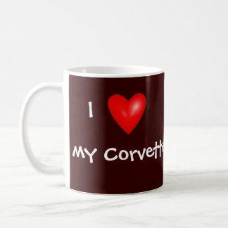I corazón mi Corvette Tazas