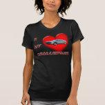 I corazón mi desafiador camisetas