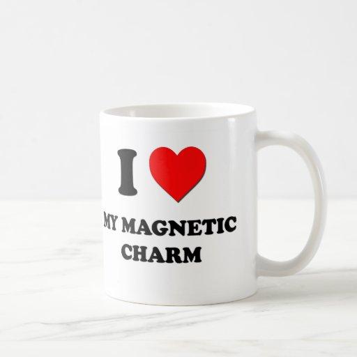 I corazón mi encanto magnético taza