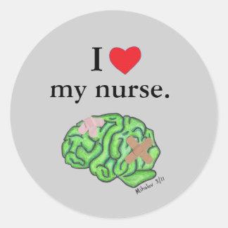 I corazón mi enfermera etiquetas