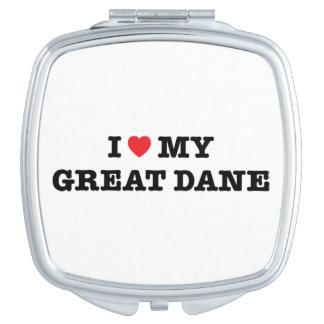 I corazón mi espejo compacto de great dane