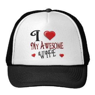 I corazón mi esposa impresionante gorras
