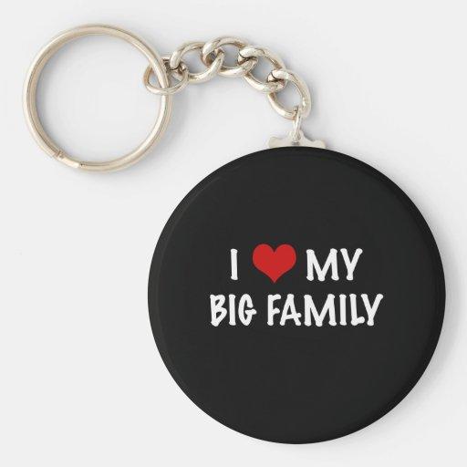 I corazón mi familia grande llavero