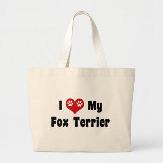 I corazón mi fox terrier bolsas de mano