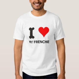 I corazón mi Frenchie Remeras