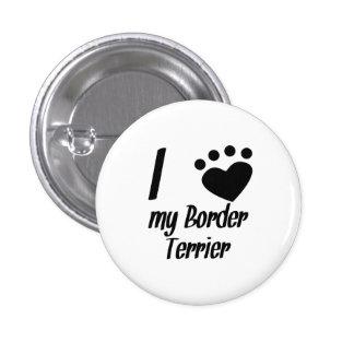 I corazón mi frontera Terrier Pins